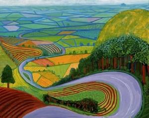 Garrowby Hill Framed Print by David Hockney