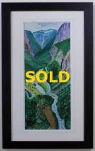 The Valley Stalheim 2002 by David Hockney