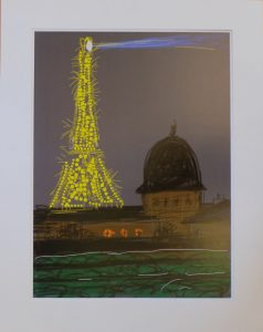 Eiffel Tower by Night 2010 David Hockney ipad image