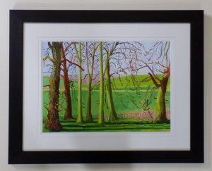 Winter Trees near Langtoft March 2006 by David Hockney