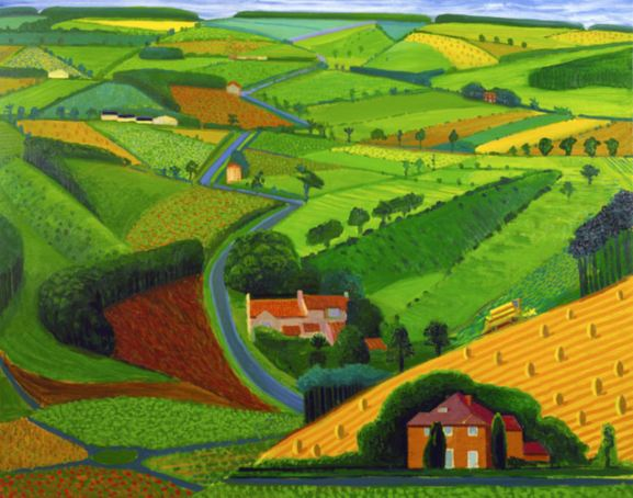 The Road Across the Wolds by David Hockney