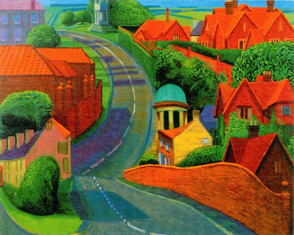The Road to York Through Sledmere by David Hockney
