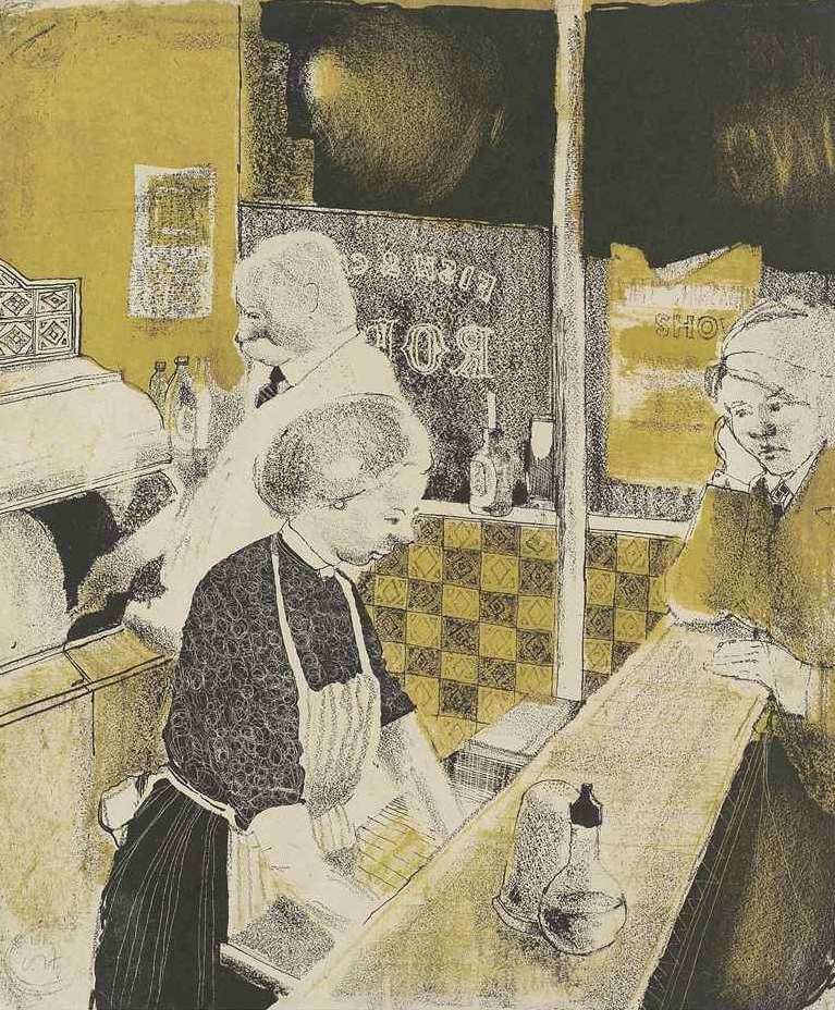 Fish and Chip Shop by David Hockney