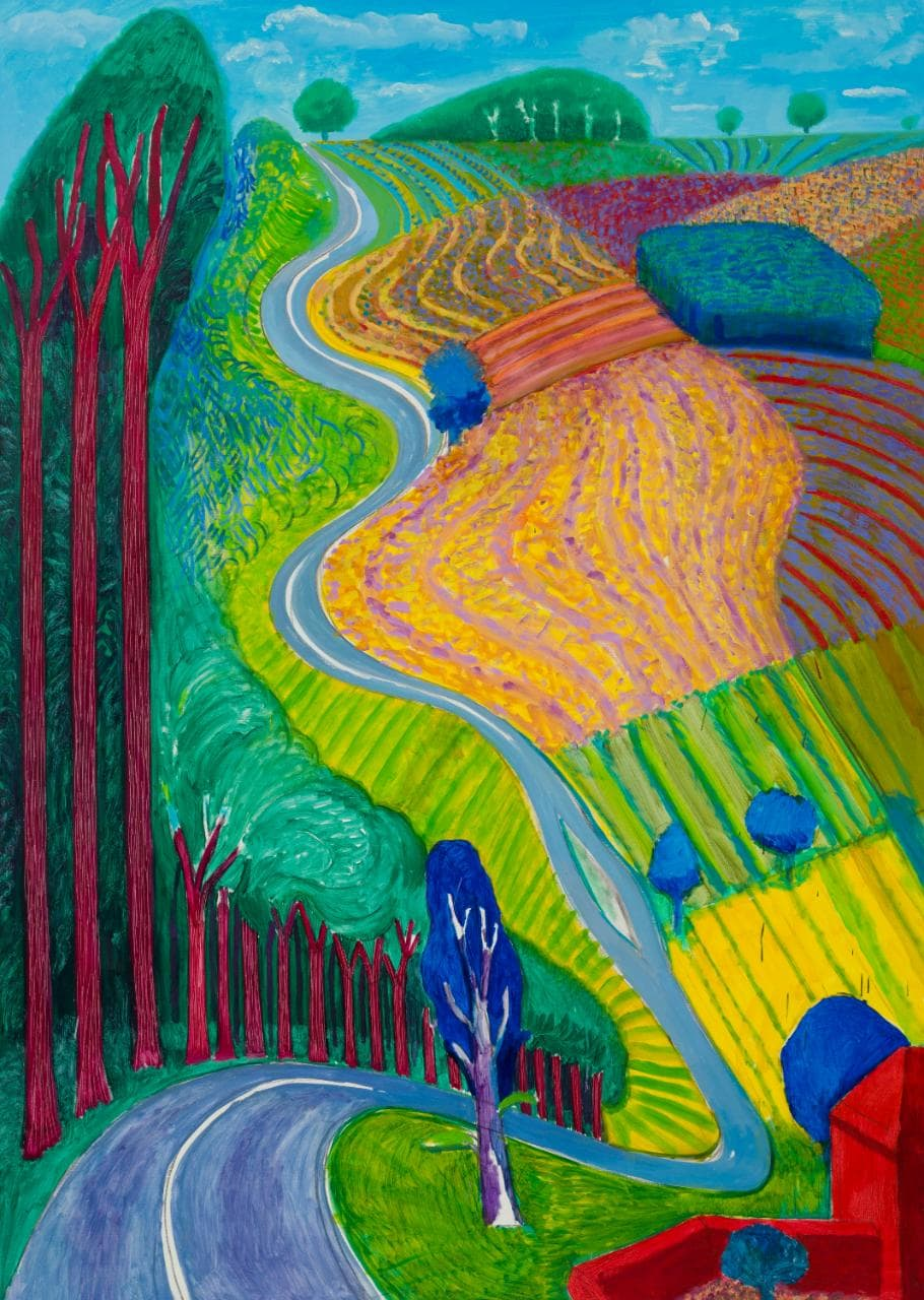 Going up Garrowby by David Hockney