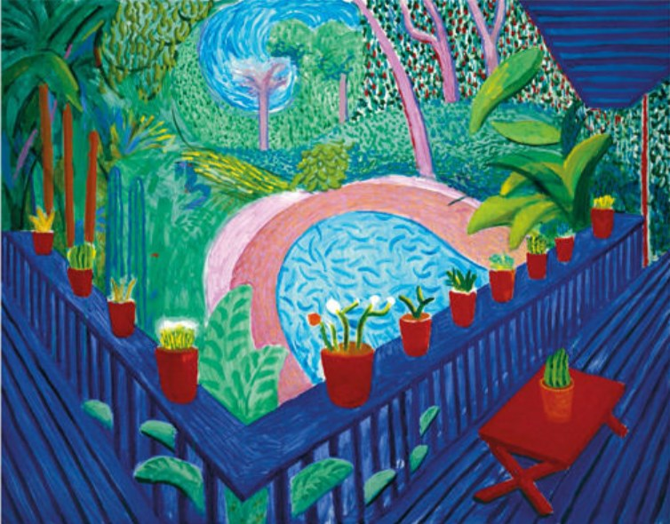 Red Pots by David Hockney