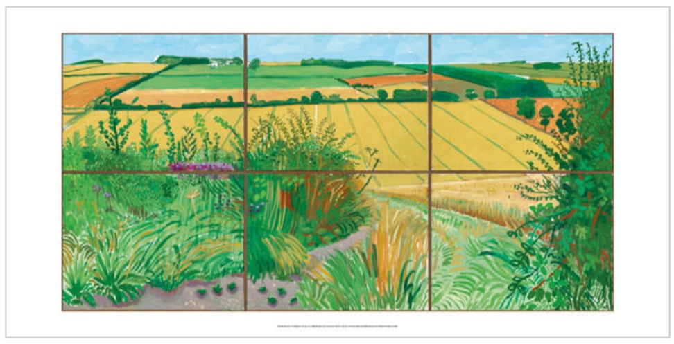 The Road to Thwing by David Hockney