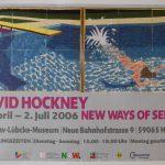 New Ways of Seeing  -  Le Plongeur / Paper Pool poster by David Hockney