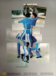The Skater - Official 1984 Sarajevo Winter Olympics Poster by David Hockney