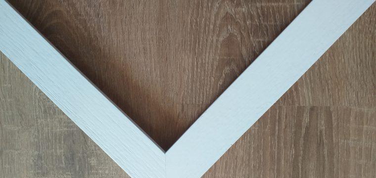 White Grained Frame